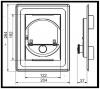 ESREKO II regulátor komínového tahu do dvířek 125 x 185 mm