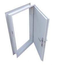 Ocelové dveře do sezónního zásobníku s celoobvodovým těsněním - pravé provedení